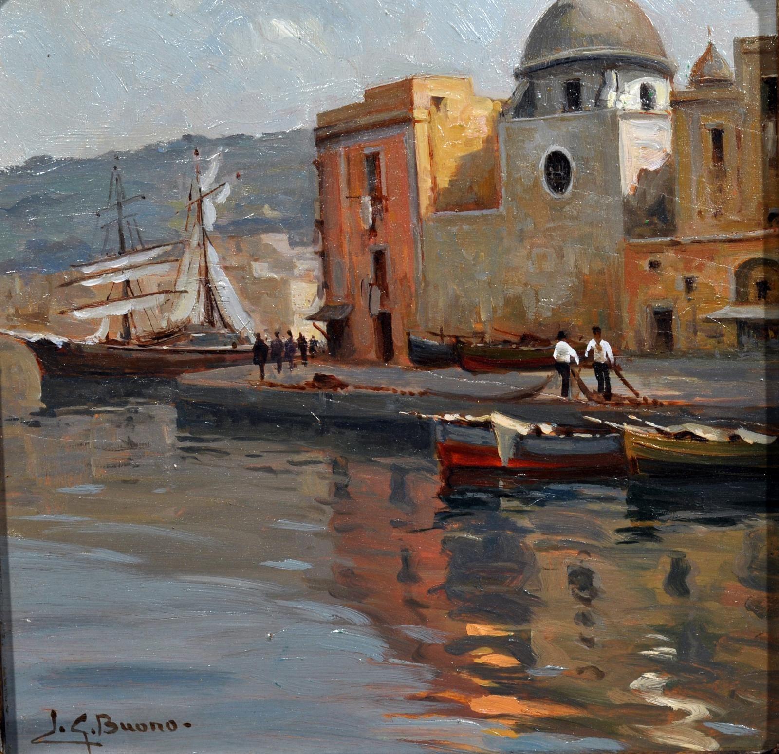 Buono Leon Giuseppe (Pozzuoli,NA 1887 - 1975) Marina di Portici