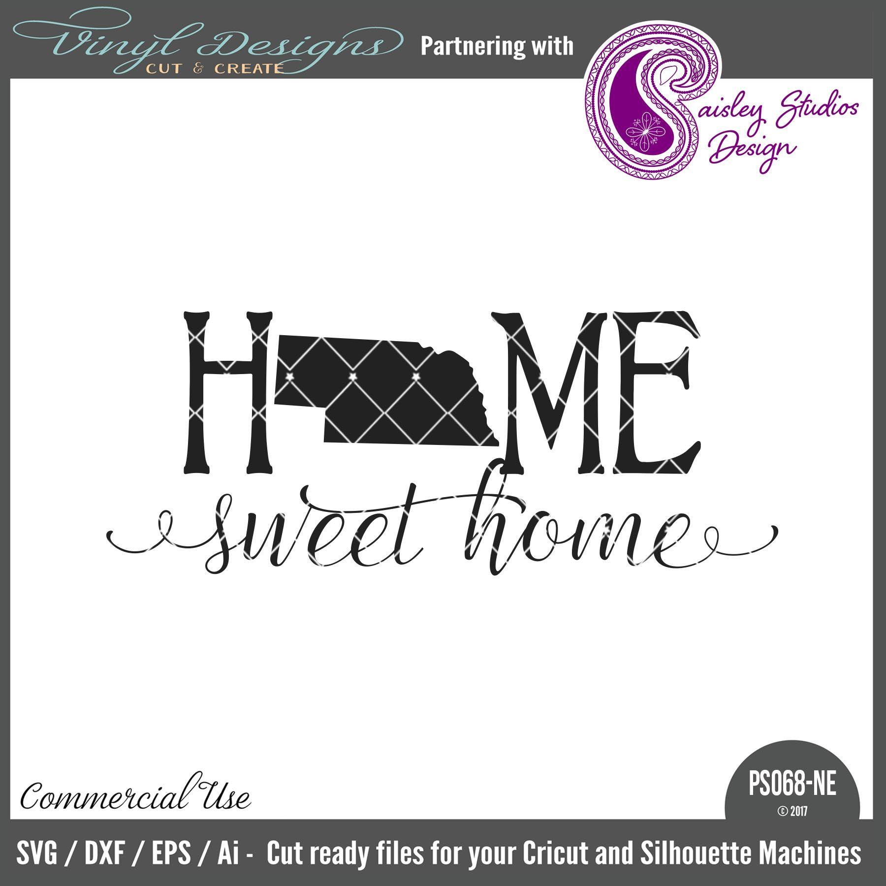 Home Designsmall House: PS068NE Nebraska Home Sweet Home . Sold By Paisley Studios