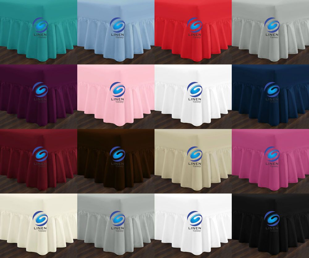 Details about valance sheet polycotton non iron easy care