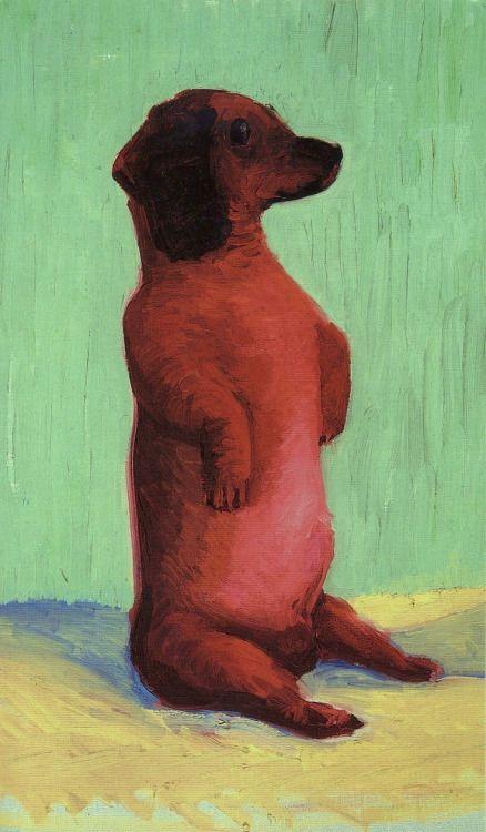 """urgetocreate:  David Hockney, """"Dog Days"""" painting, 1990's"""