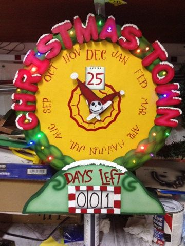 The Nightmare Before Christmas Christmas Town Countdown clock ...