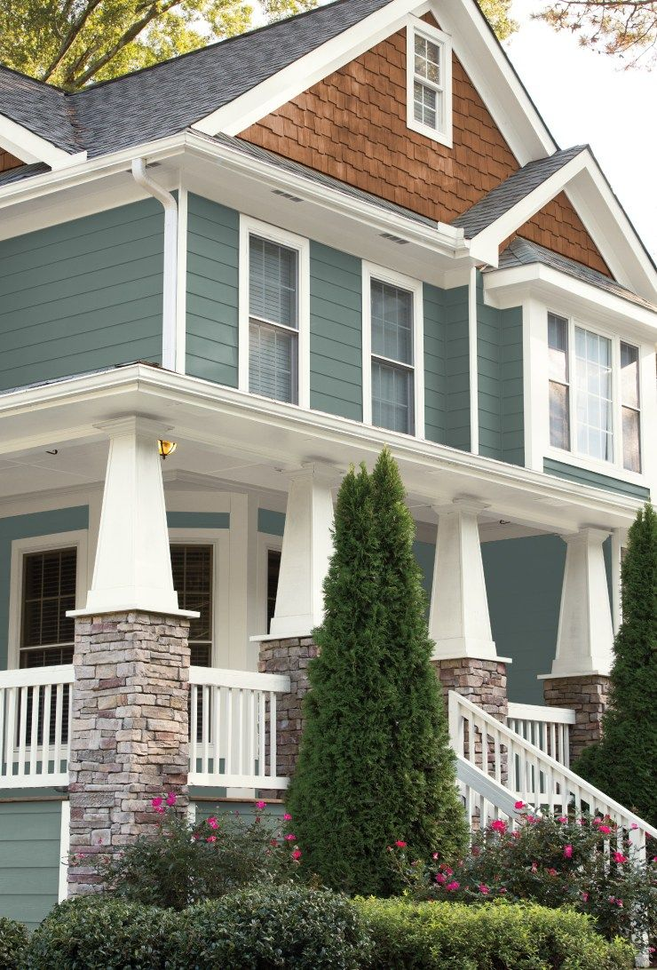 Behr 2018 color of the year house dreams exterior - Behr color of the year ...