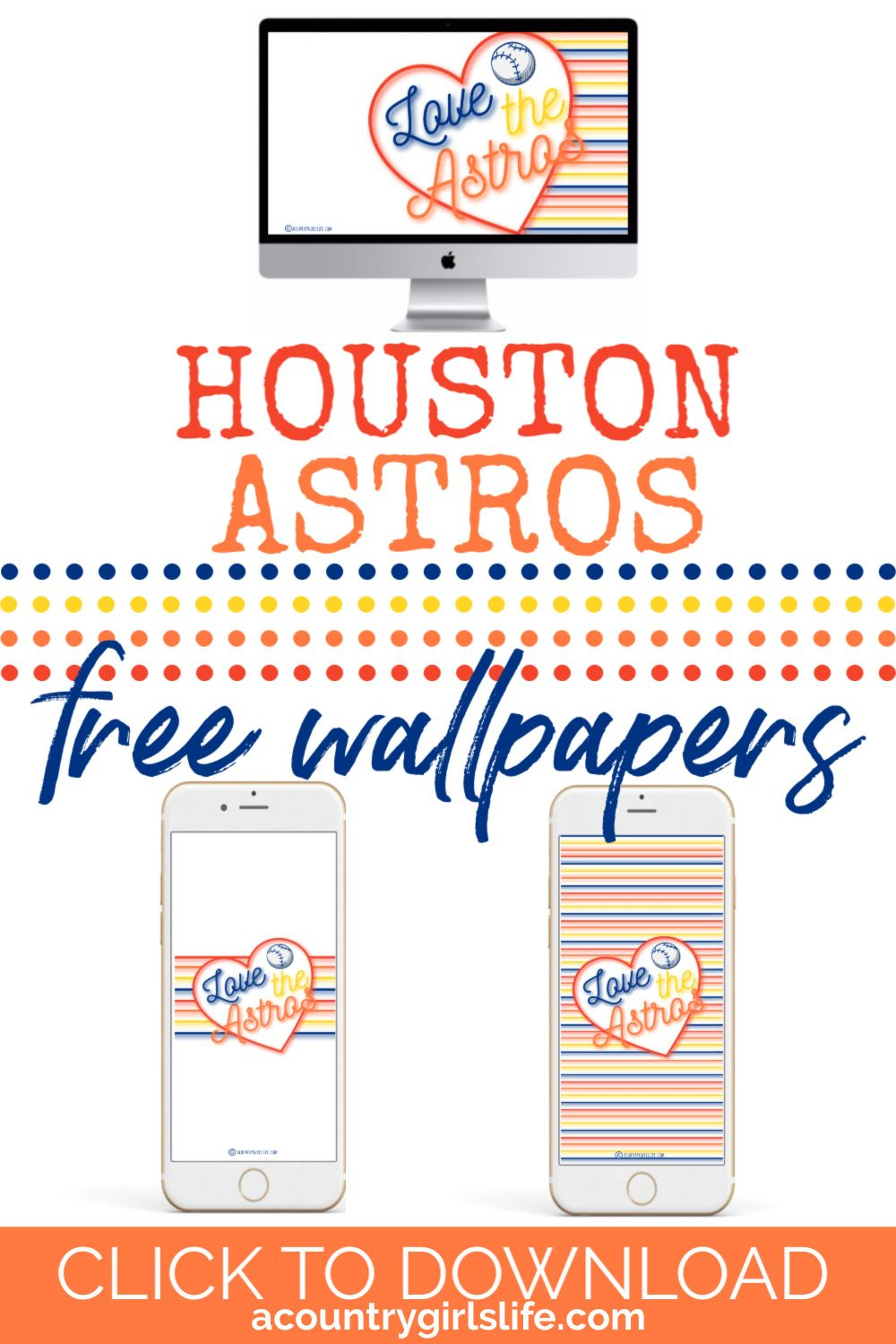 Cute, Feminine 2019 Houston Astros Wallpaper for iPhone