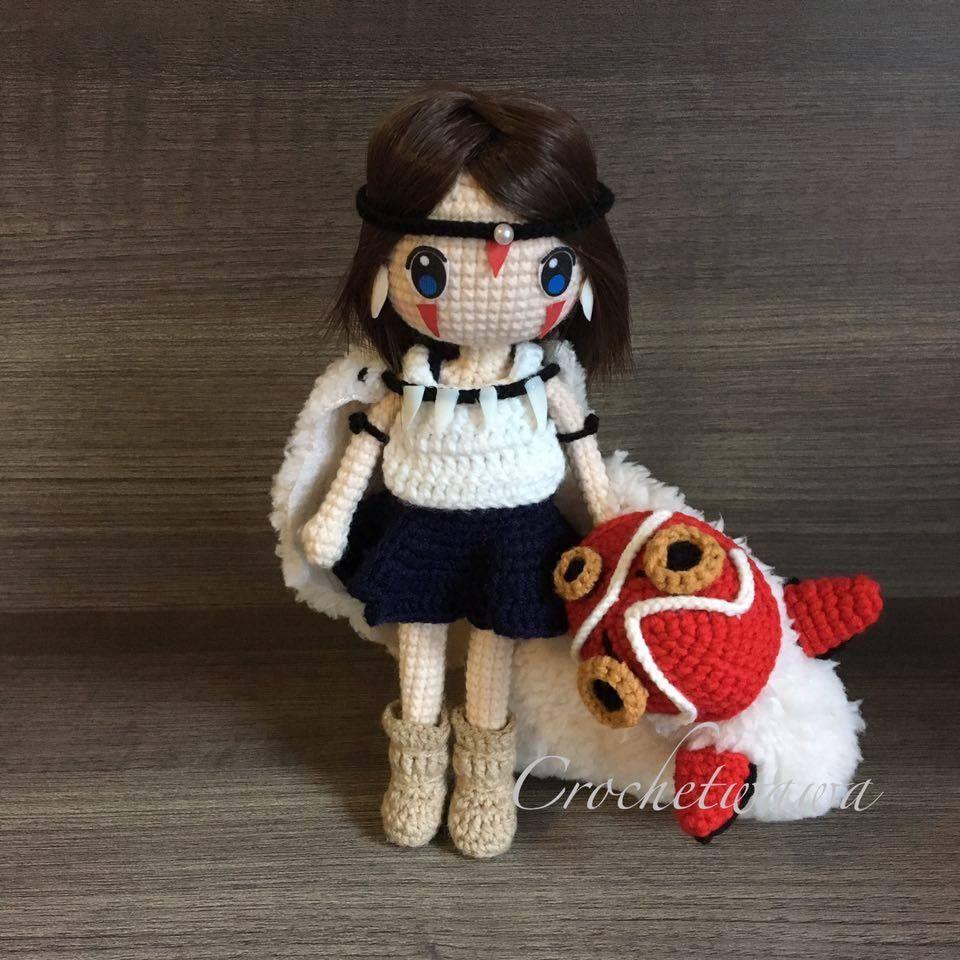 La Princesa Mononoke. ♡   AMIGURUMI FASHION   Pinterest   Amigurumi ...