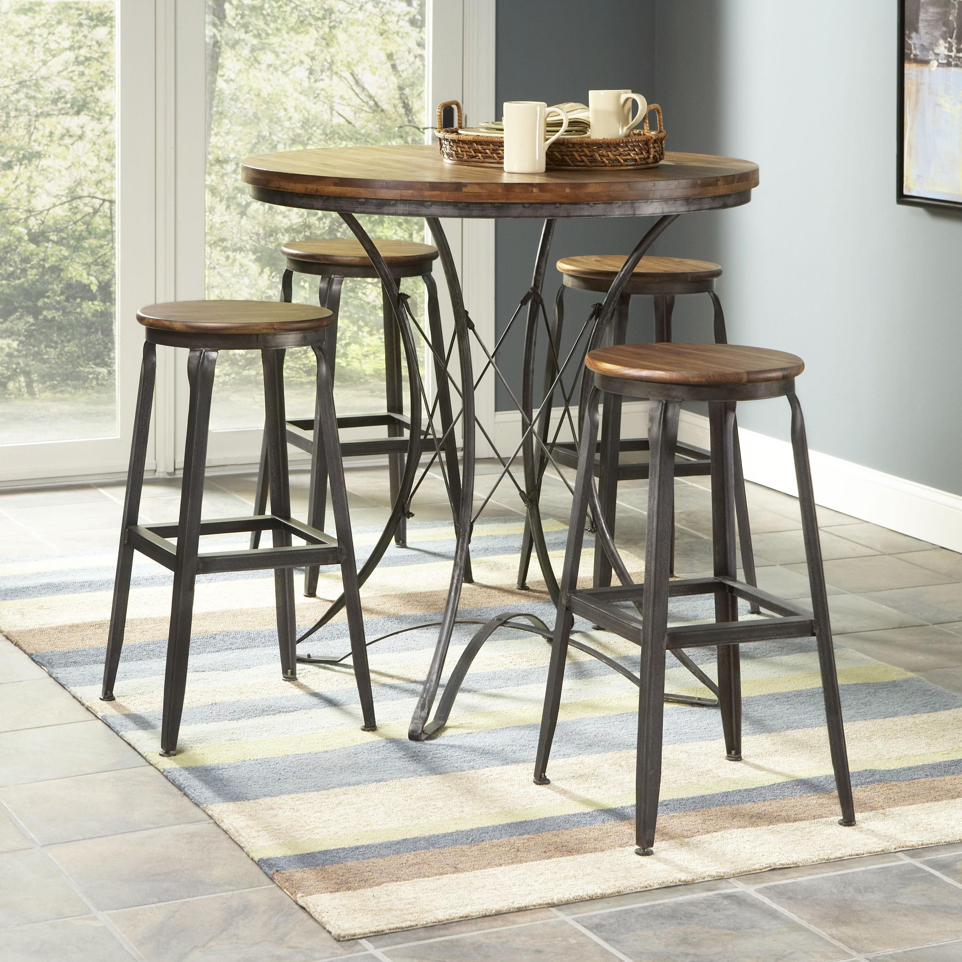 Largo Abbey Five Piece Pub Table And Backless Stools Dining Set   Wolf  Furniture   Pub Table And Stool Set Pennsylvania, Maryland, Virginia