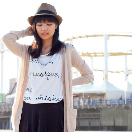 Fashion blogger Kat Chang sporting a Downtown Style fedora from Dynamic Asia!  :)