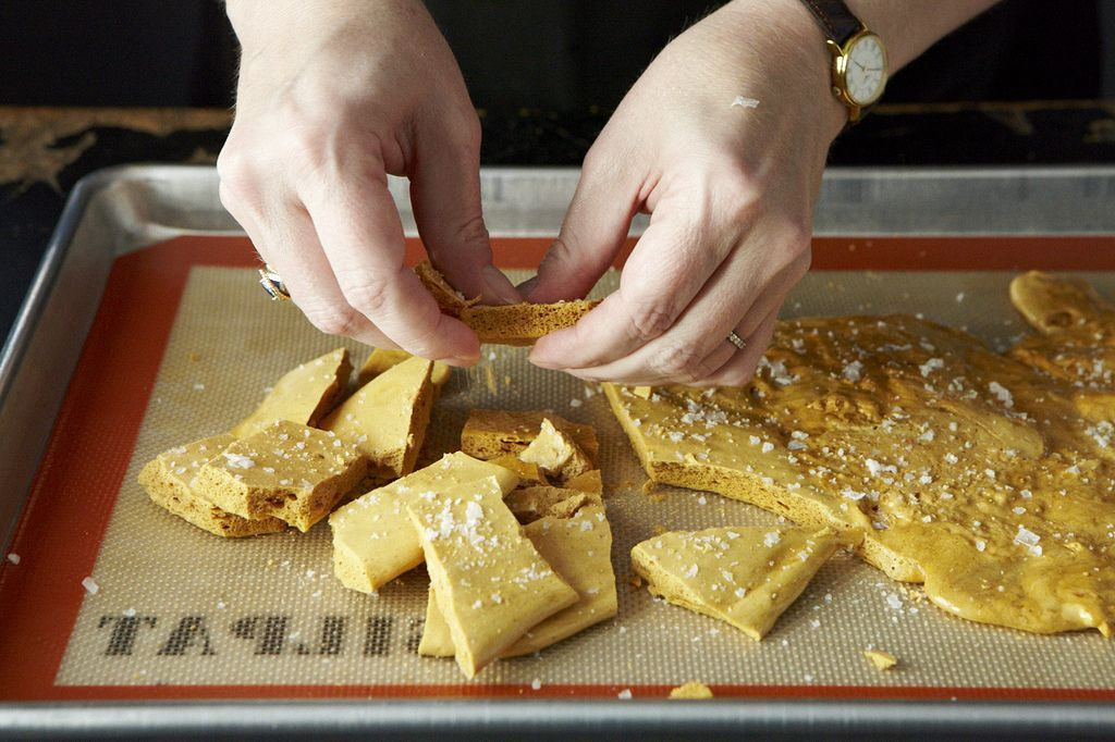 Salted Maple Honeycomb Candy
