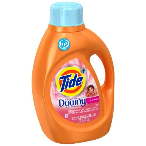 Tide Plus With Downy Laundry Detergent April Fresh 48 He Loads