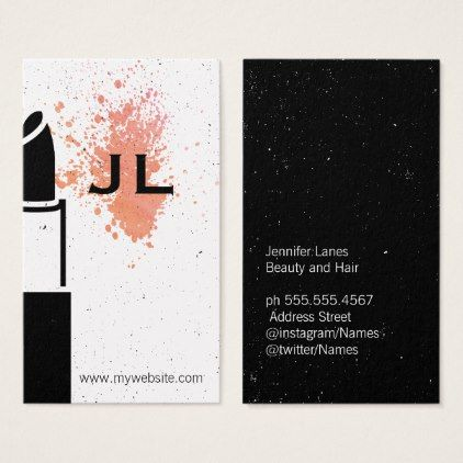Monogram makeup business card stylist business card business monogram makeup business card stylist business card business cards cyo stylists customize personalize reheart Image collections