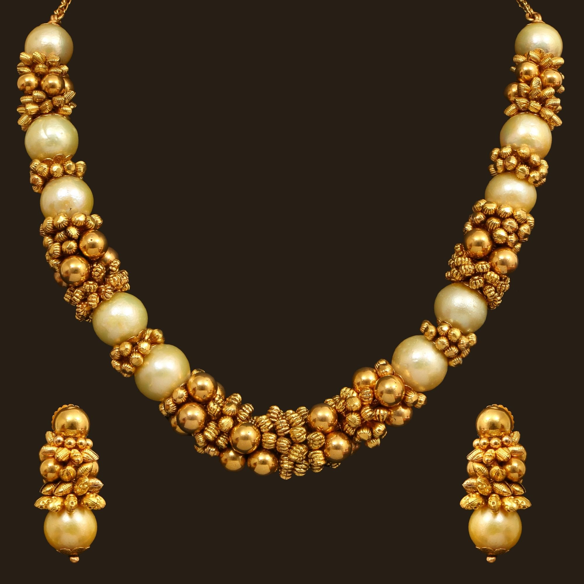Pearl necklace set aa vummidi bangaru jewellers