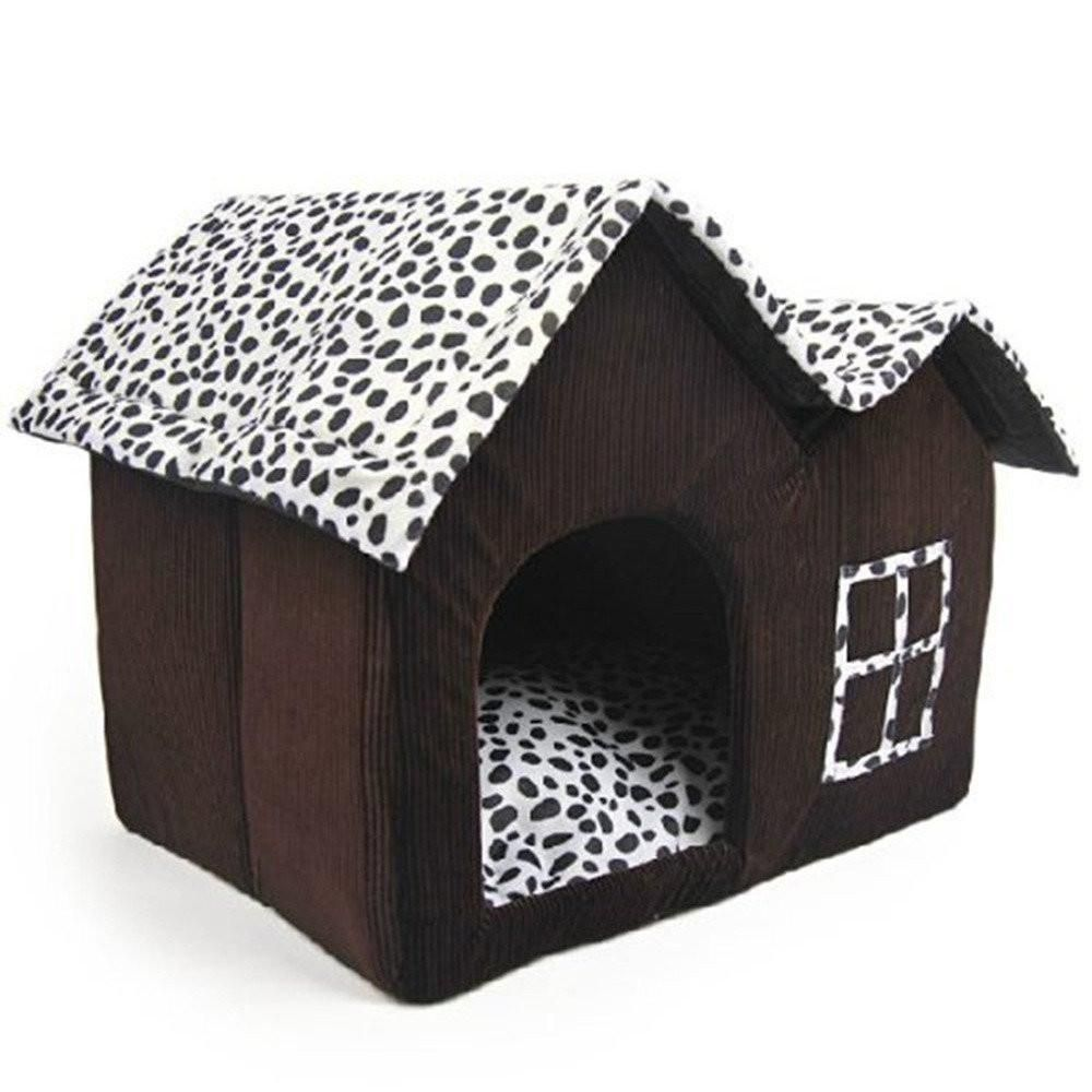 Luxury High End Double Pet House Brown Dog Room Dogtrunk Dog Bed Dog Rooms Dog Cushions