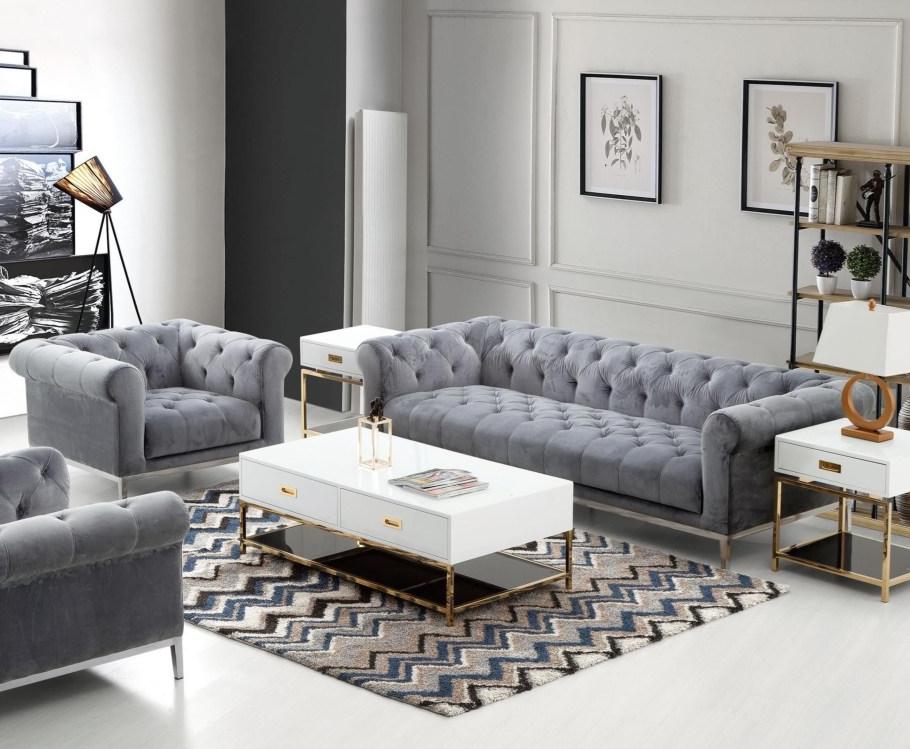 Monroe Sofa And Chair Set By Diamond Sofa Living Room Sets