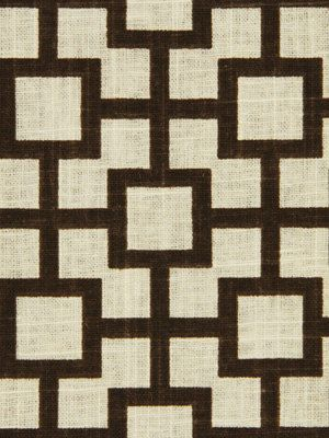 Modern Upholstery Fabric Chocolate Brown White Contemporary Fabric