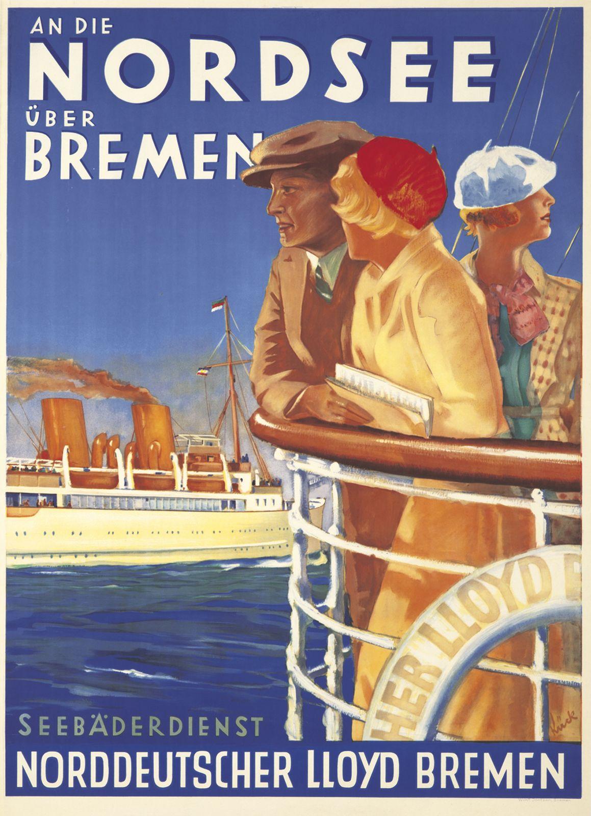 Norddeutscher Lloyd Bremen Nordsee By Fritz Kuck 1933