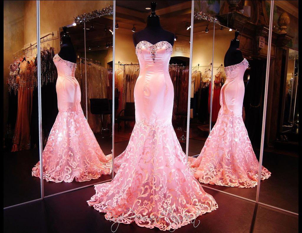 Flamingo Satin Mermaid-Sweetheart Neckline-Train-115XCT03159100658 ...