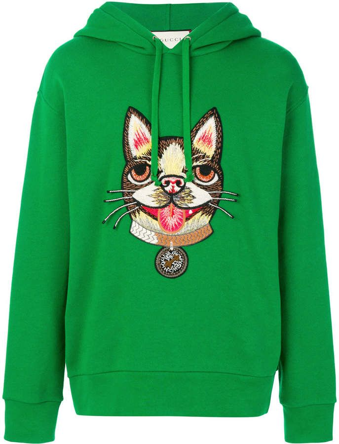 3f959b70e Gucci dog embroidered sweatshirt | Garment. man. | Gucci hoodie ...