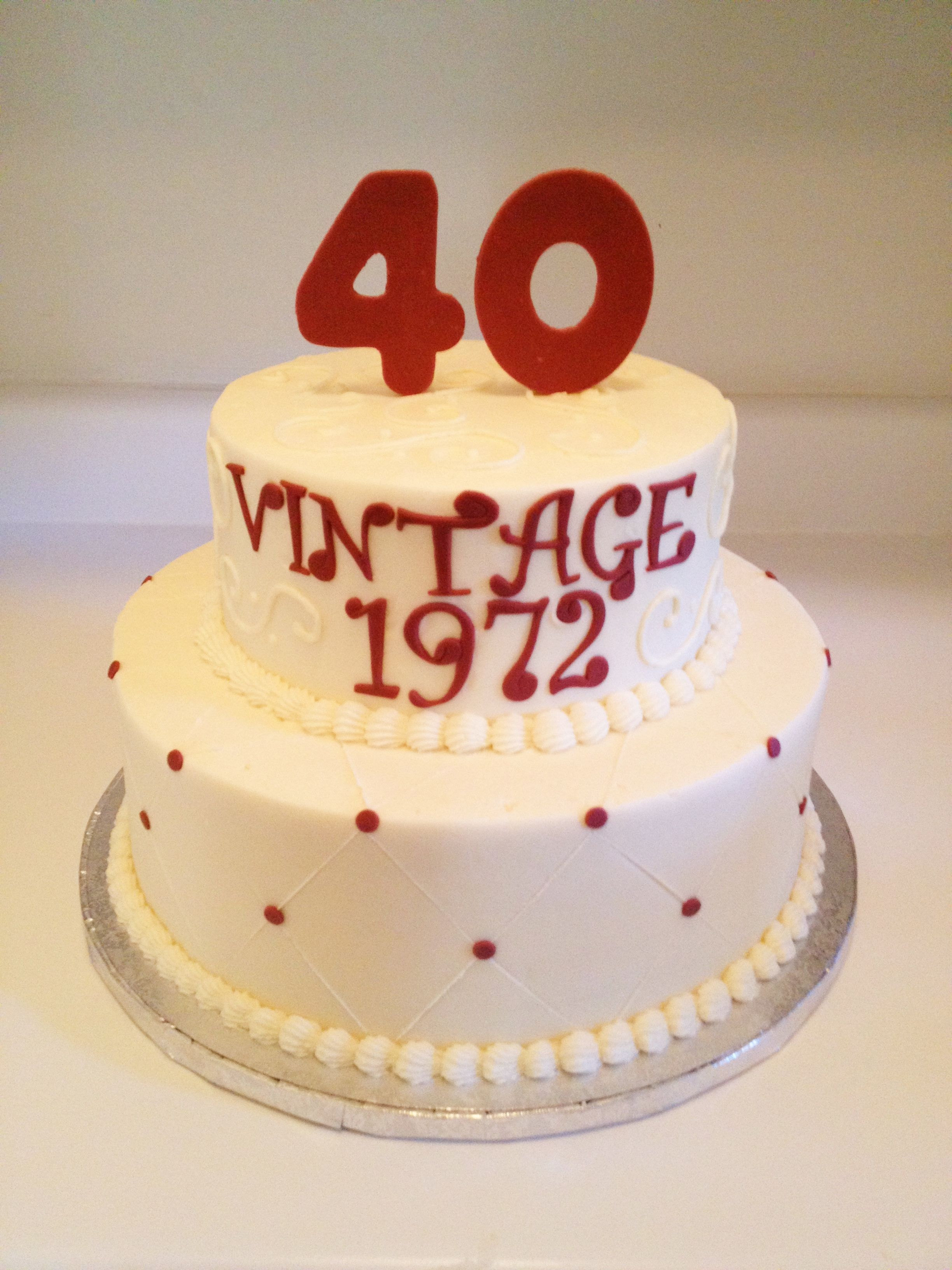 40th Birthday Cake For A Wine Enthusiast Sweets By Millie