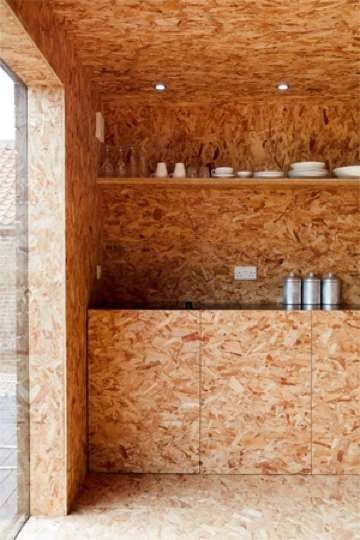 Showing how OSB board can be used in interiors and not just for industrial purposes.