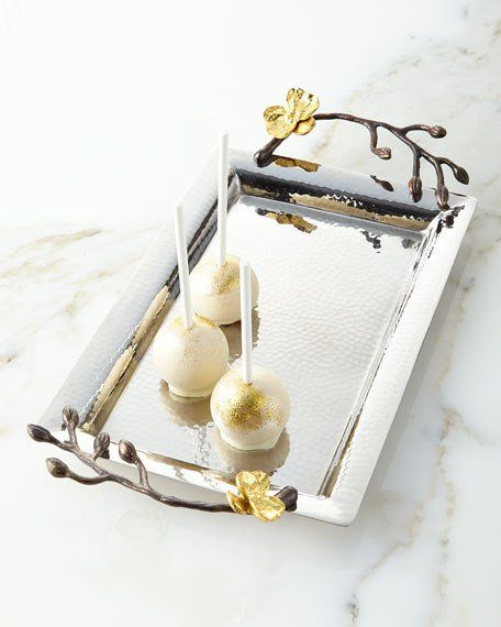 Michael Aram Gold Orchid Mini Tray