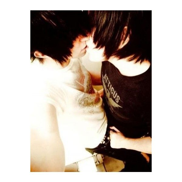 "EMO BOYS ""Cute Emo Couples"" ❤ liked on Polyvore"