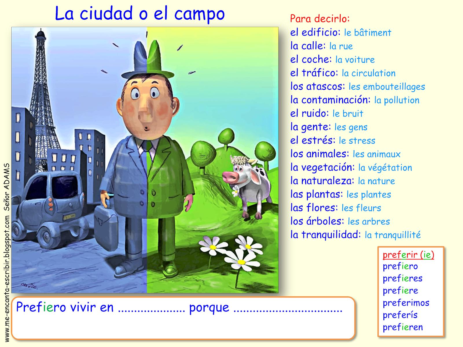 Me Encanta Escribir En Espanol Que Prefieres La Ciudad O El Campo