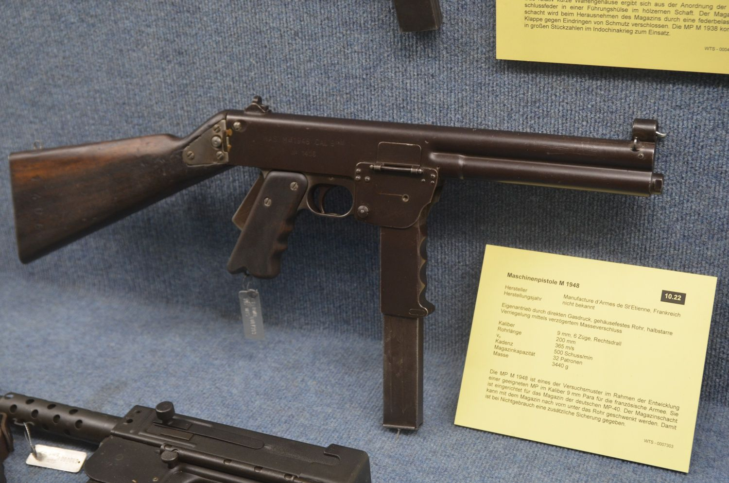 The French MAS-48 SMG, a stamped steel predecessor to the MAT-49 ...