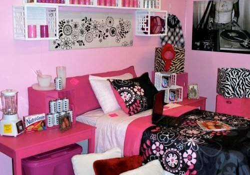Pink And Black Bedroom Designs Captivating College Dorm Room Ideas Pink Black And Blue  30 Staggering Dorm Inspiration Design