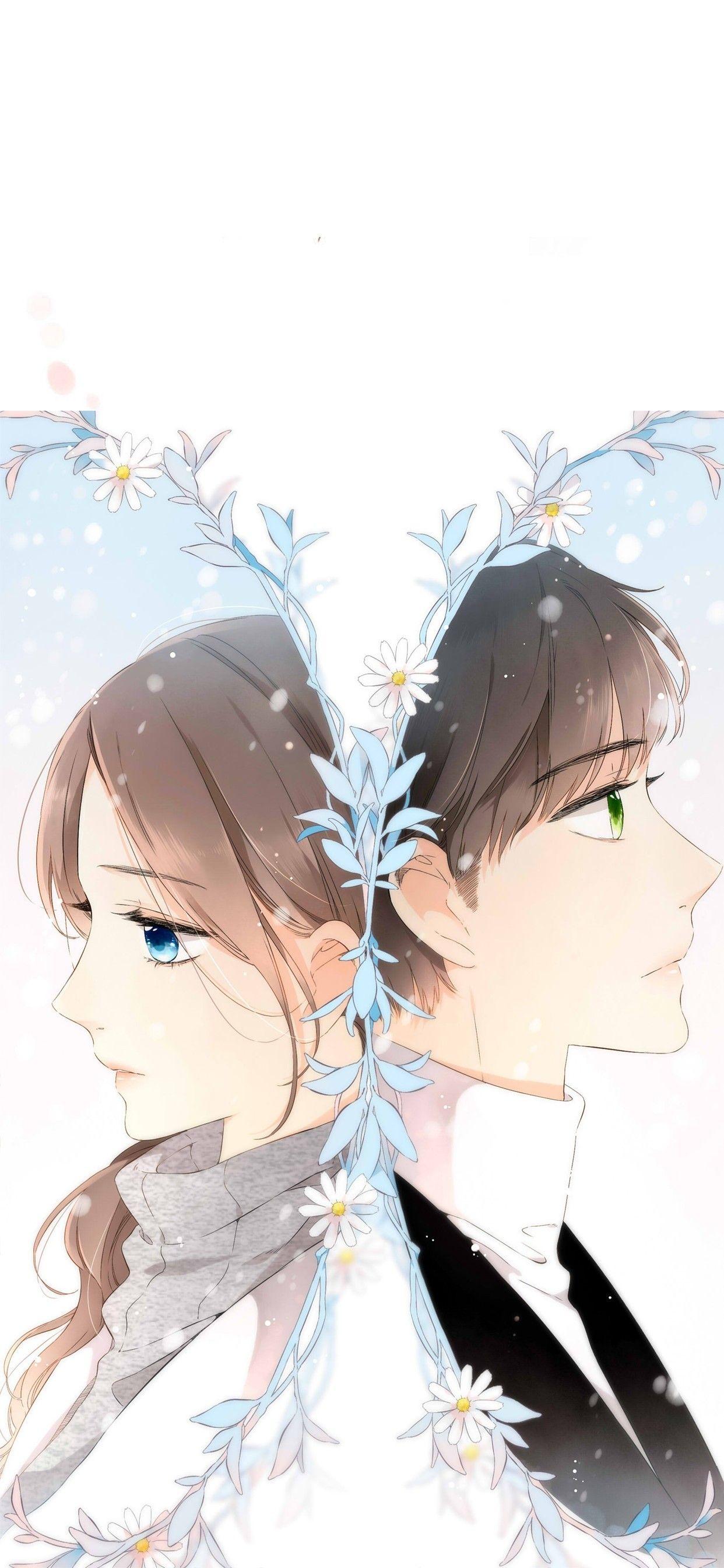 Cinta Itu Berwarna Primrose Warna Cinta Anime couple android wallpaper