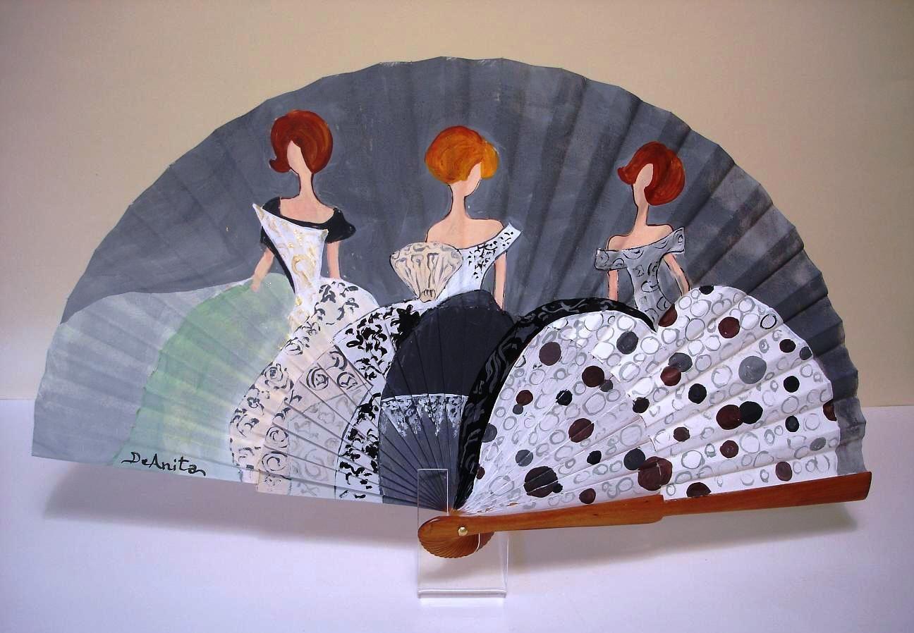 Abanicos pintados a mano buscar con google abanicos - Abanicos pintados a mano originales ...