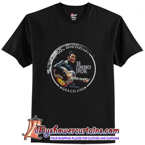About 68 Special 50th Anniversary Elvis Black Leather From Myshowercurtains Com Th Shirts