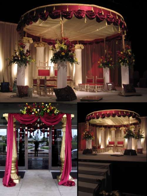 Indoor mandap. | Ceremony decorations, Marriage decoration ...