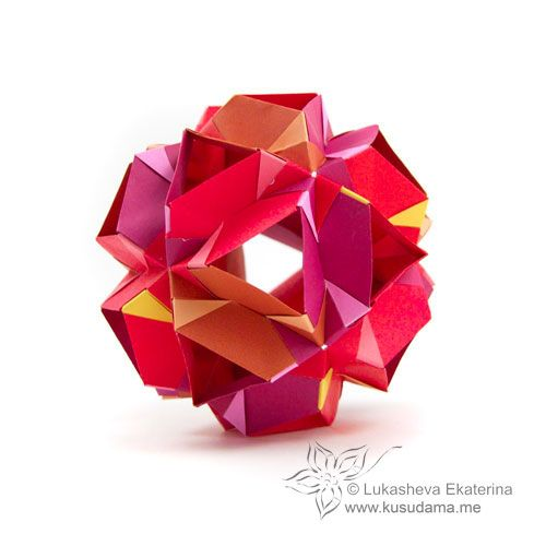 #polyhedra #origami #kusudama #lukasheva_ekaterina #neo_sonobe_jade_2