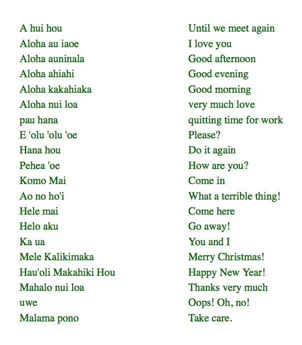 Hawaiian christmas greetings sayings images greeting card designs this makes all islands within the hawaiian archipelago that hawaiian phrases m4hsunfo images m4hsunfo