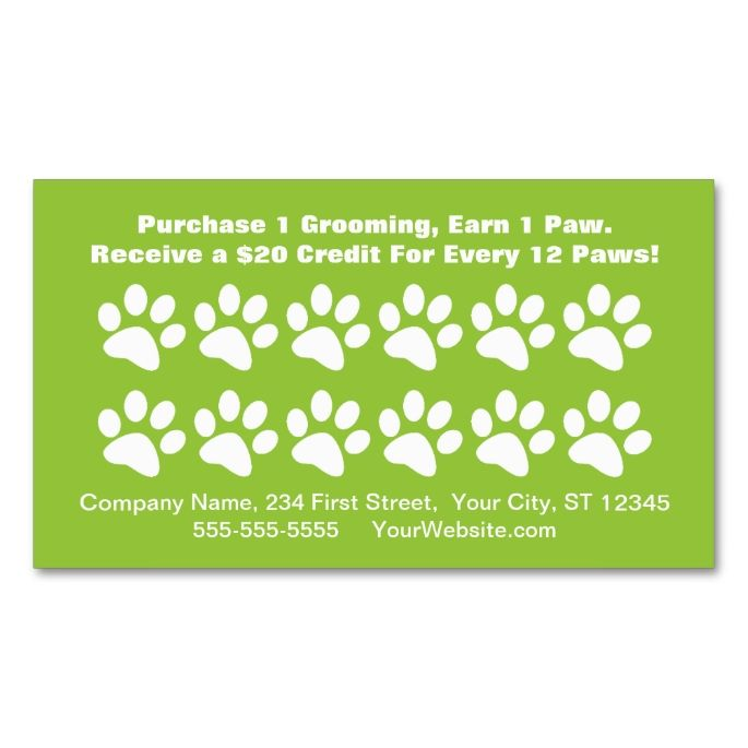 Dog grooming customer reward card loyalty card pinterest dog grooming customer reward card loyalty card double sided standard business cards pack of 100 this great business card design is available for colourmoves