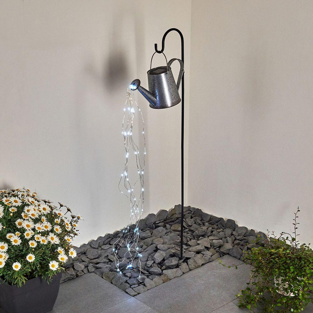 Giesskanne Mit Lichterkette Solarlampe Isernia In 2020 Solarleuchten Garten Solarlampen Garten Solar Lichterkette