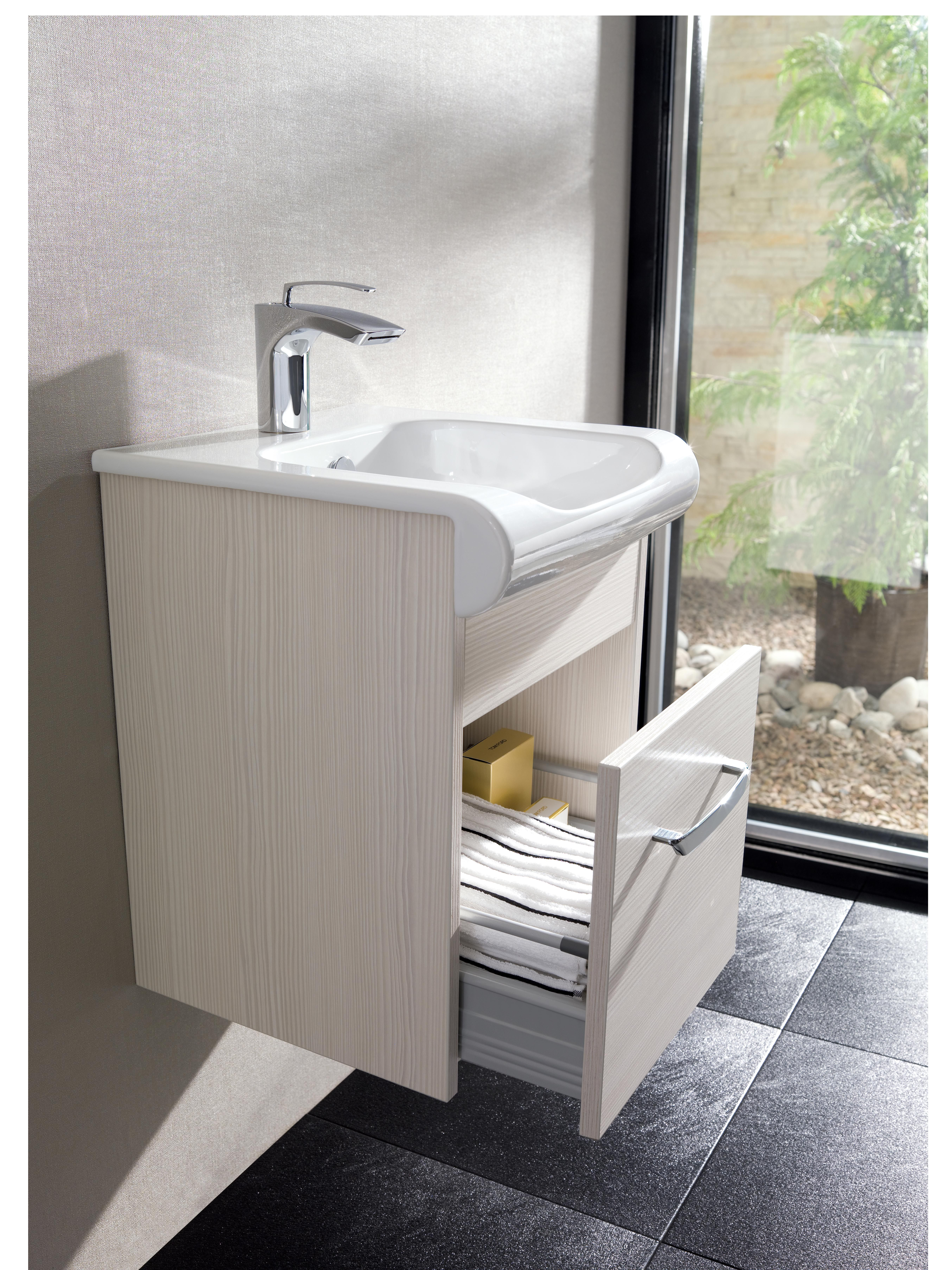Essence Glacier Bathroom Furniture Range from Crosswater