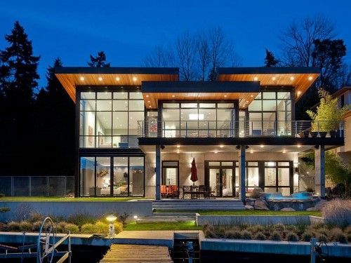 northwest modern home architecture. Lakeside Modern Built For Entertaining In The Pacific Northwest Home Architecture O