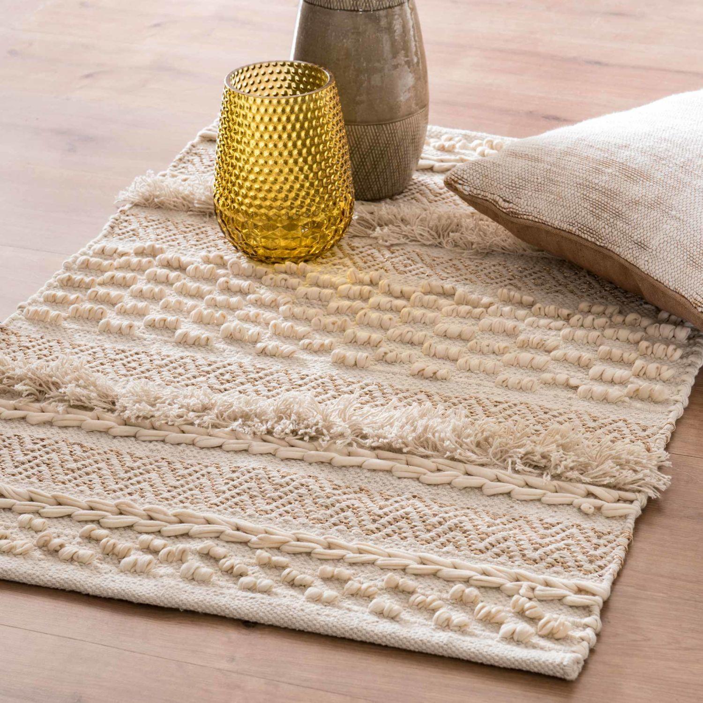Ecru Cotton Berber Rug 60x90 Tapis Maison Du Monde Tapis Berbere Tapis