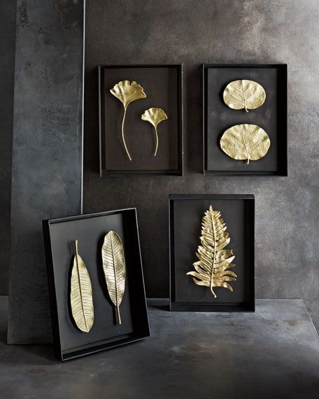 Photo of Gold Metal Picture Frames, Metal Picture frame, Leaf on Glass Framed