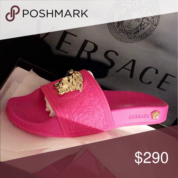 Pink Limited edition Versace slides
