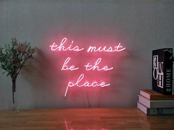 This Must Be The Place Neon Sign For Living Room Bedroom Home Decor ...