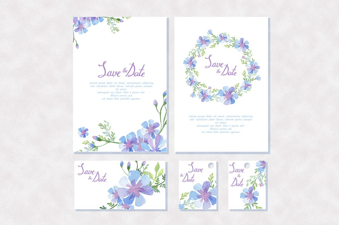 Watercolor vector floral Elements by Lexver on Creative Market
