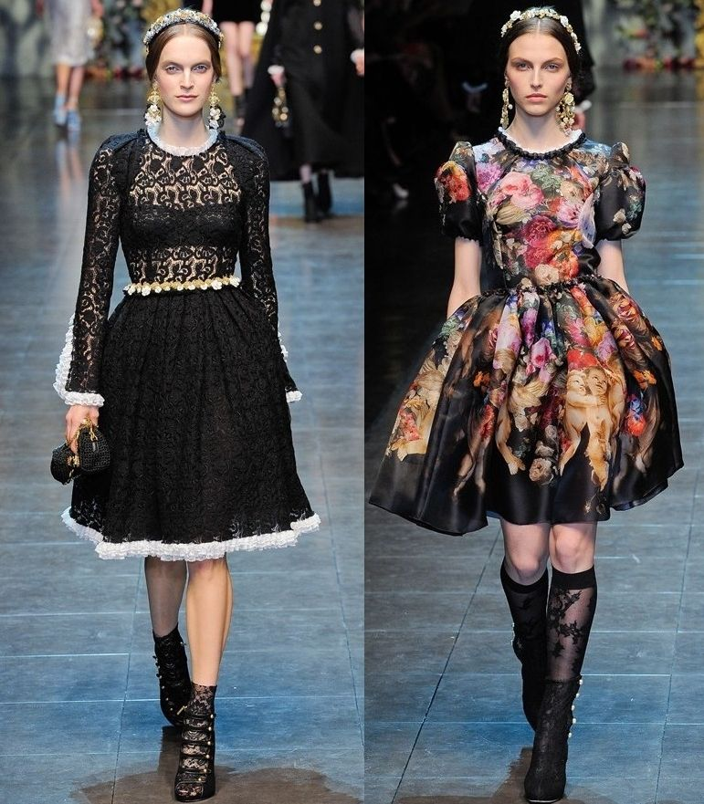 Dolce Gabbana Baroque Fashion Style Inspiration Baroque Fashion