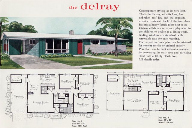 Mid century modern house plans mid century modern ranch for Mi homes ranch floor plans
