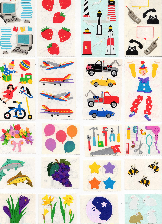 Full Sheet Mrs Grossman PENGUINS Stickers Vintage 1997