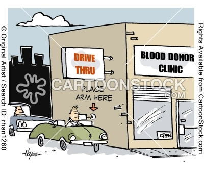 Drive Thru Blood Donor Clinic.