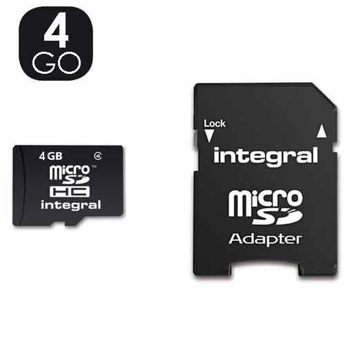 carte mémoire, micro SD de 4GO  Prix 6€50