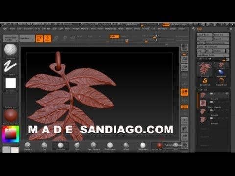 Leaf pendant using ZBrush Texture Map | Zbrush Jewellery
