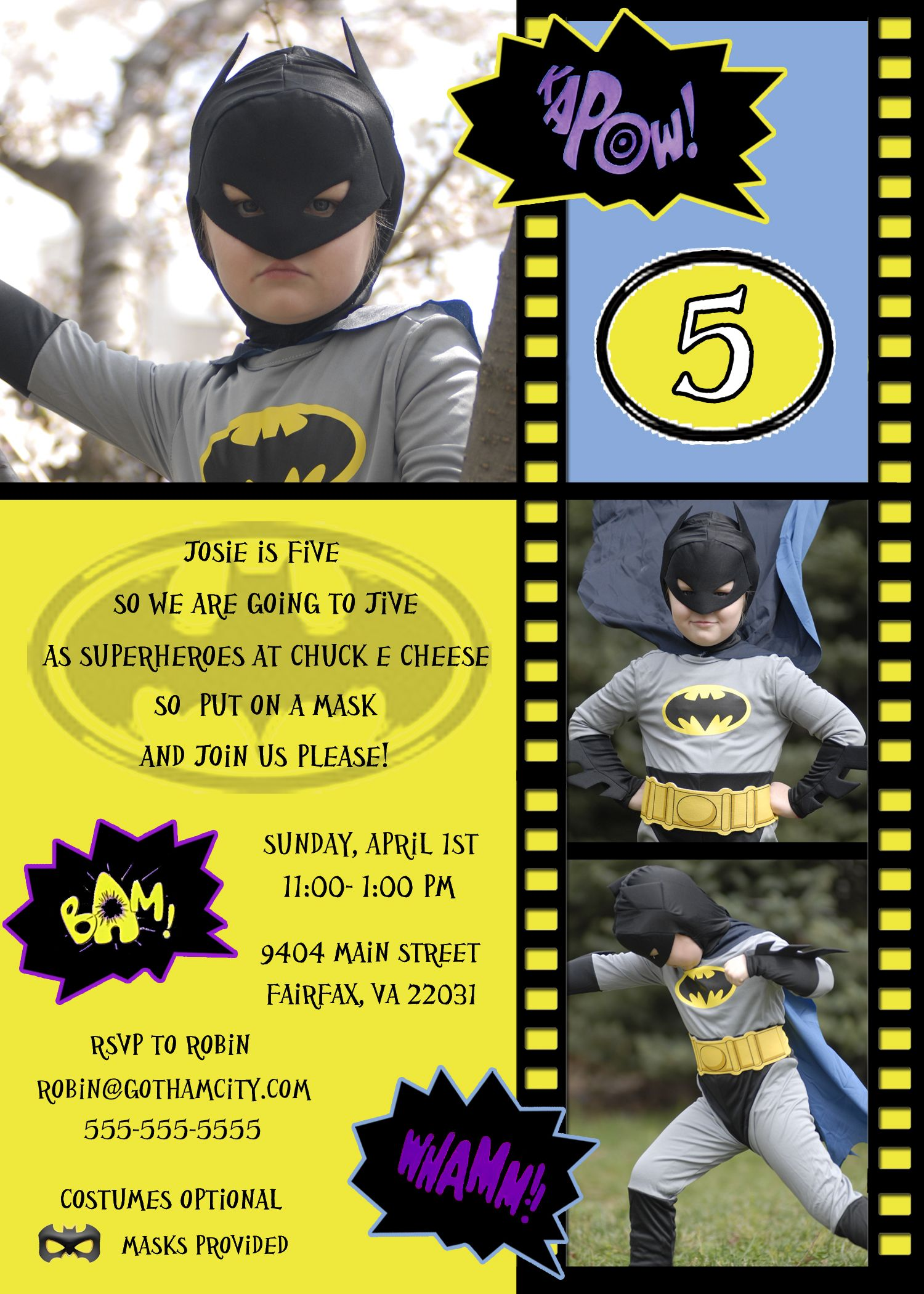 Batman Birthday Invitation All Invitations Are Custom Designed And Can Include Just About Any Theme If You Dont See What Want Email The