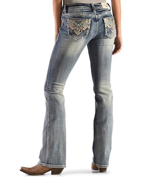 Grace in LA Aztec Sunrise Bootcut Jeans